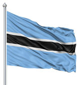 Waving flag of Botswana — Stock Photo