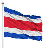 Waving flag of Costa Rica — Stock Photo