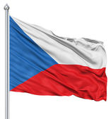 Waving flag of Czech Republic — Stock Photo