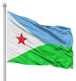 Waving flag of Djibouti — Stock Photo