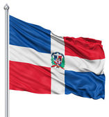 Waving flag of Dominican Republic — Stock Photo