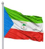 Waving flag of Equatorial Guinea — Stock Photo