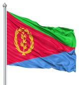Waving flag of Eritrea — Stock Photo