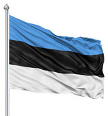 Waving flag of Estonia — Stock Photo