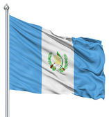 Waving flag of Guatemala — Stock Photo