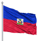 Waving flag of Haiti — Stock Photo