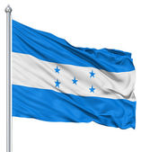 Waving flag of Honduras — Stock Photo