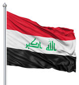 Waving flag of Iraq — Stock Photo