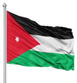 Waving flag of Jordan — Stock Photo