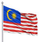 Развевающийся флаг Малайзии — Стоковое фото