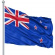 Waving flag of New Zealand — Stock Photo