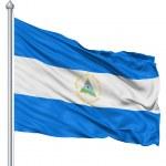 Waving flag of Nicaragua — Stock Photo