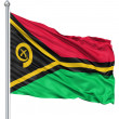 Waving flag of Vanuatu — Stock Photo