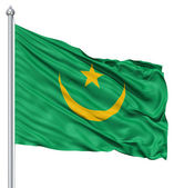 Sventolando la bandiera della mauritania — Foto Stock