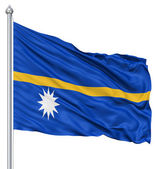 Waving flag of Nauru — Stock Photo