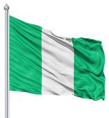 Waving flag of Nigeria — Stock Photo