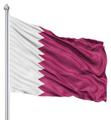 Waving flag of Qatar — Stock Photo