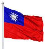 Waving flag of Republic of China — Stock Photo