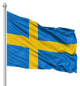 Waving flag of Sweden — Stock Photo