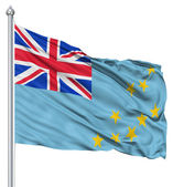 Waving flag of Tuvalu — Stock Photo