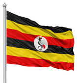 Waving flag of Uganda — Stock Photo
