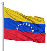 Waving flag of Venezuela — Stock Photo