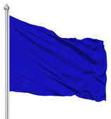 Blue blank flag with flagpole — Stockfoto