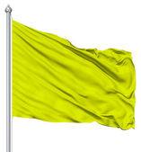 Green blank flag with flagpole — Stock Photo