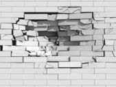 Crumbling brick wall — Stock Photo