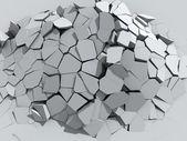 Crumbling concrete wall — Stock Photo