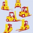 Stock Vector: Vector fork trucks