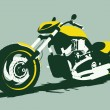 Vector harleycustom bike front view - Stock Vector