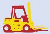 Vector utilidad tenedor vehículo vista lateral — Vector de stock
