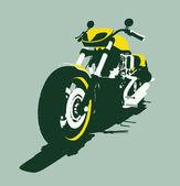 Vector harleycustom bike front view — Stock Vector