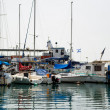 Boats in the Old Akko harbor, Israel — Stock Photo