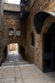 Ancient street in Akko, Israel — Stock Photo