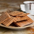 Cookies and cup of chocolate — Stock Photo