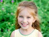 Liitle 女の子のクローズ アップ — ストック写真