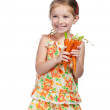 Little girl with the carrot — Stock Photo #10941518