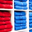 Shelf with a towels — Stok fotoğraf