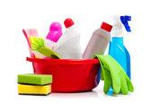 Scatola di prodotti per la pulizia — Foto Stock