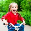 Girl with bicycle — Stock Photo #11502331