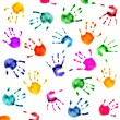 Stock Photo: Hand prints background