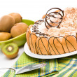 Sweet cake and kiwi — Stock Photo #12094990