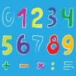 Set of numbers — Stock Vector #10735471