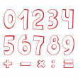 Set of numbers — Stock Vector #10752715