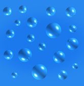 Air bubbles blue abstract background — Stock Photo