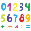 Set of color numbers — Stock Vector #10855119