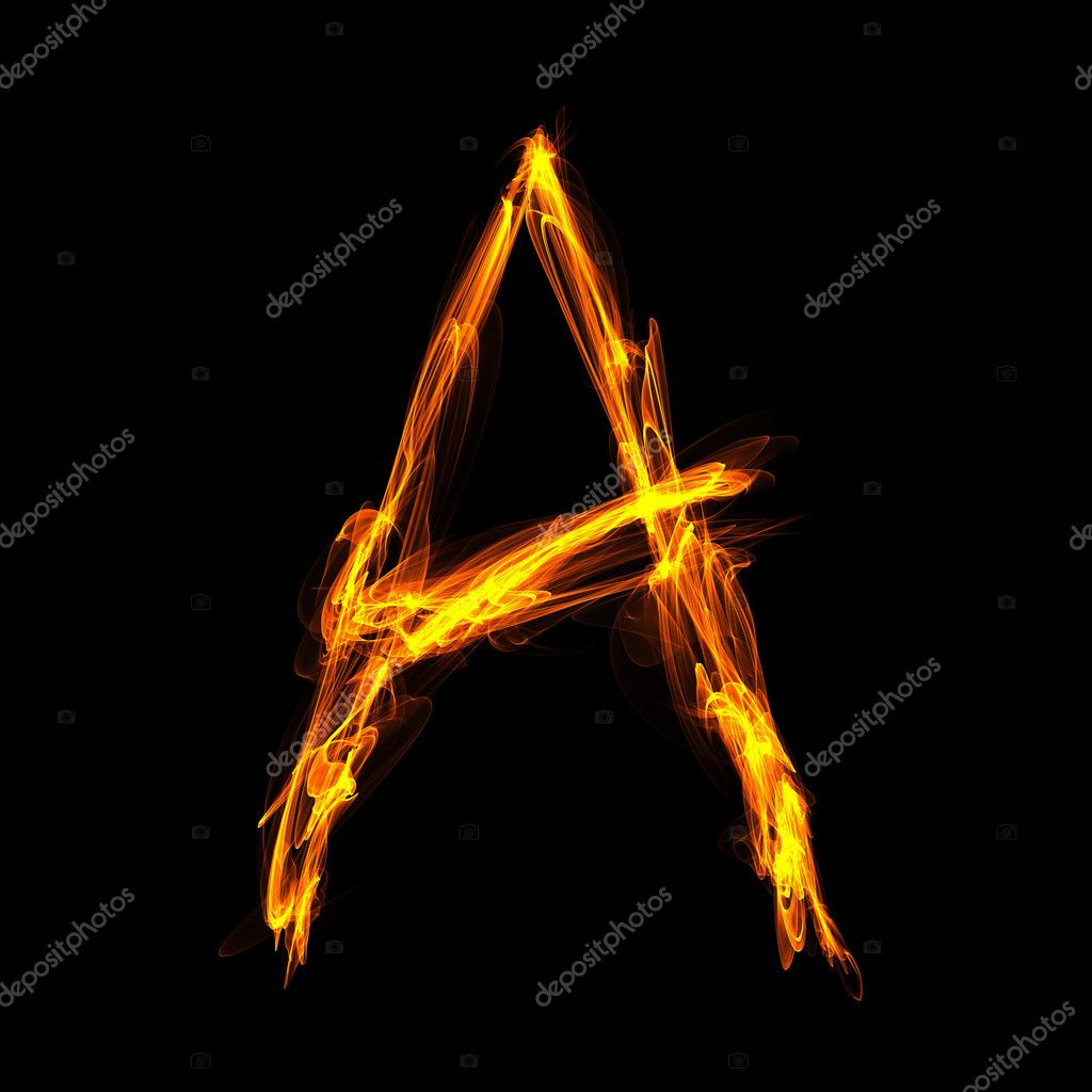 fiery letter a stock photo dink101 11407254