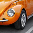 Stock Photo: Retro orange car